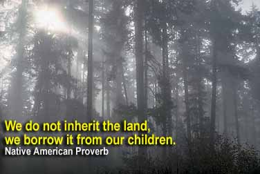 We do not inherit the land, we borrow it from our children. -Native American Proverb